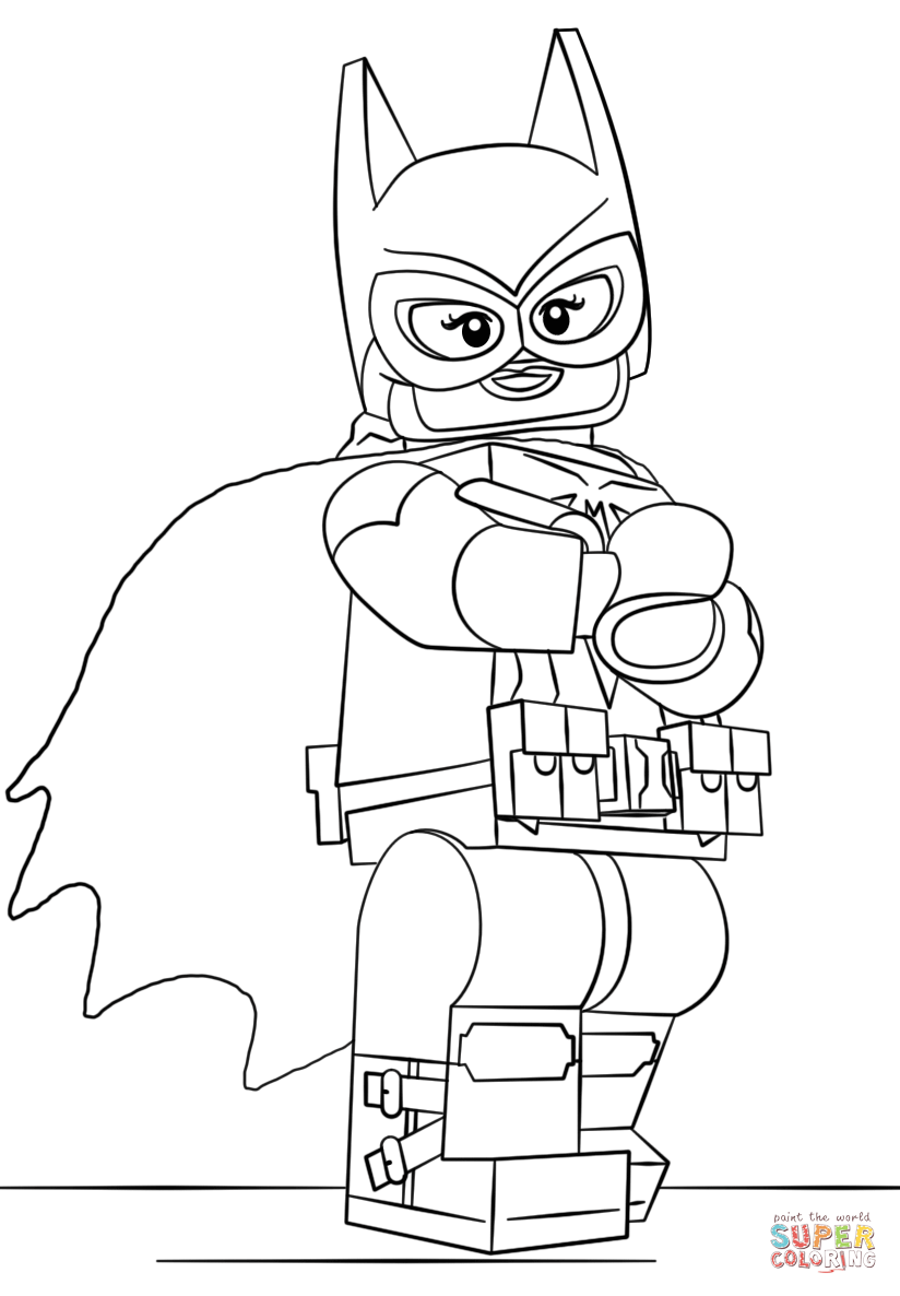 Lego Batgirl Coloring Page