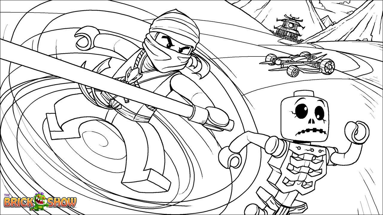 Lego Ninjago Coloring Pages Free Printable Color Sheets With To