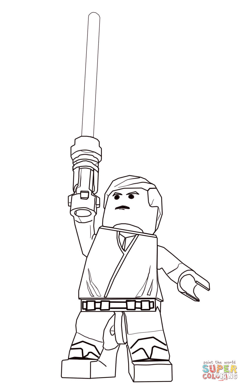 Lego Star Wars Luke Skywalker Coloring Page
