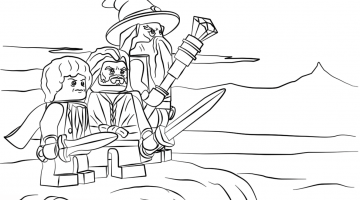 Lego The Hobbit Coloring Page – NEO Coloring