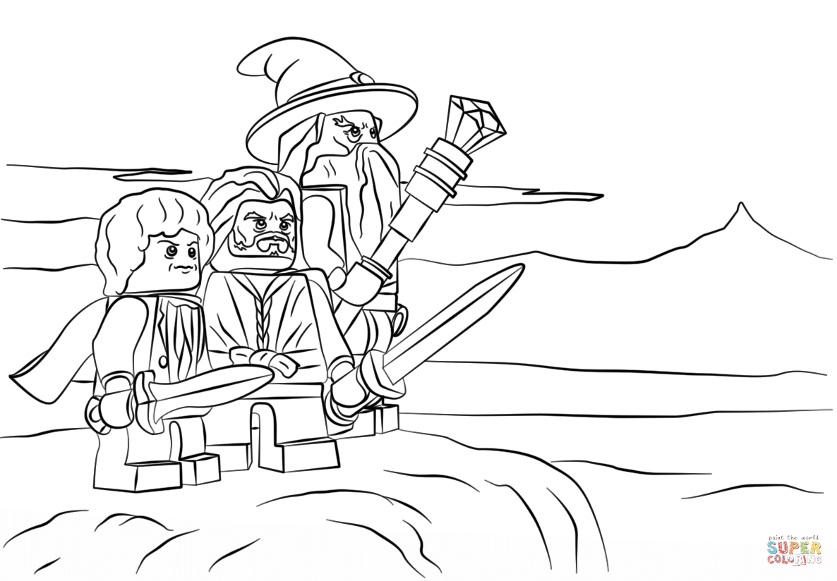 Lego The Hobbit Coloring Page