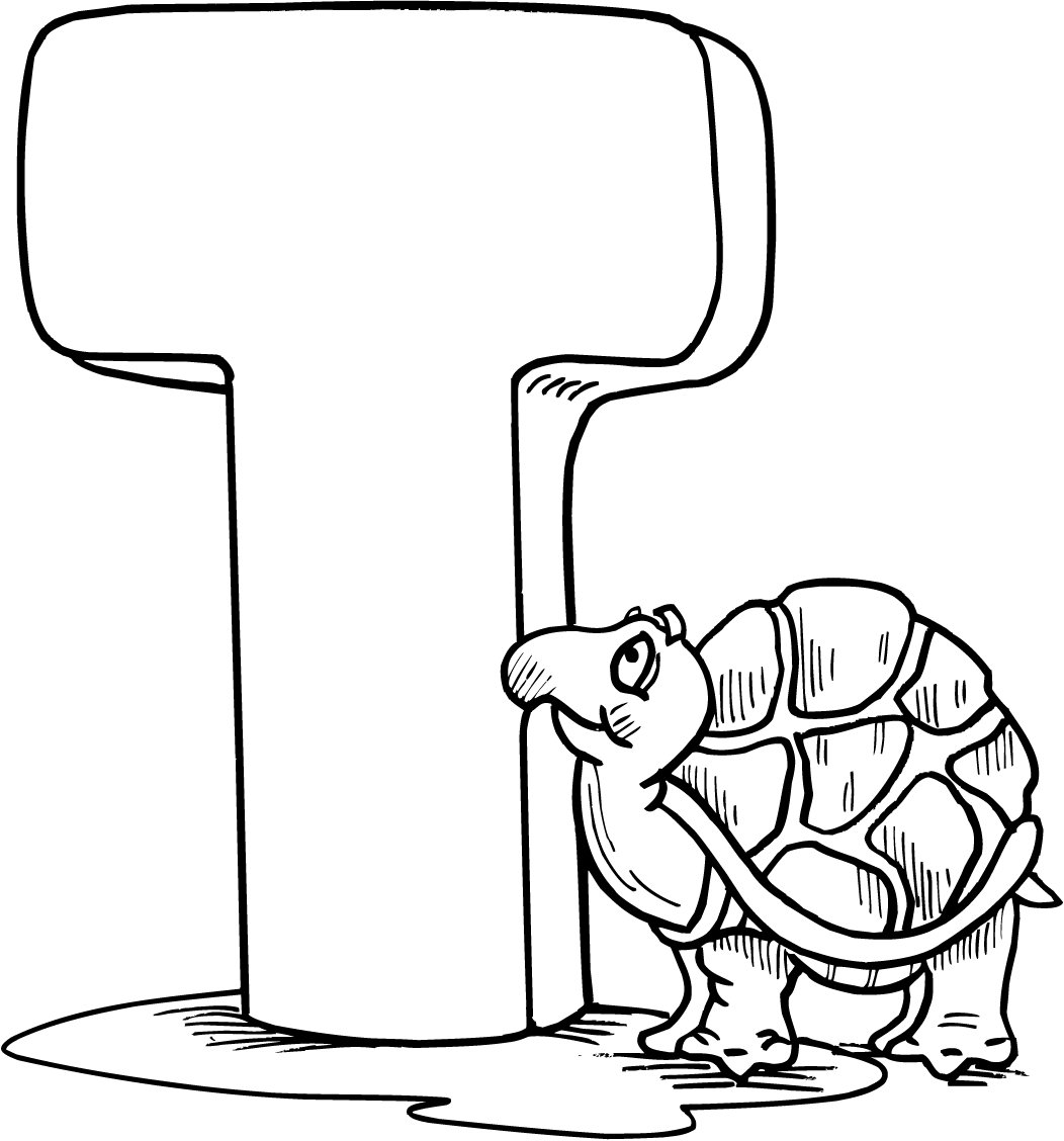 Letter T Printable Coloring Pages For Preschoolers