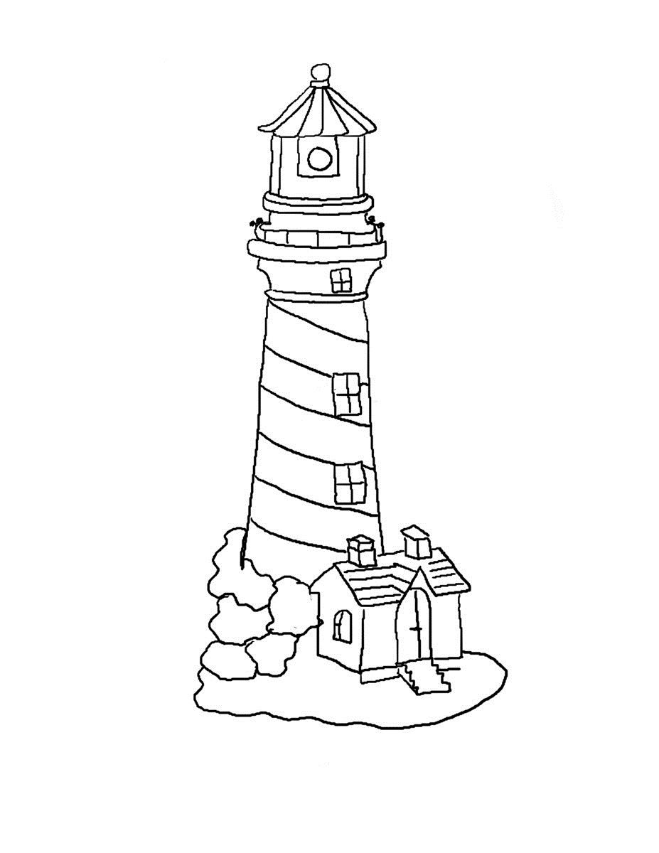Printable Lighthouse Coloring Pages