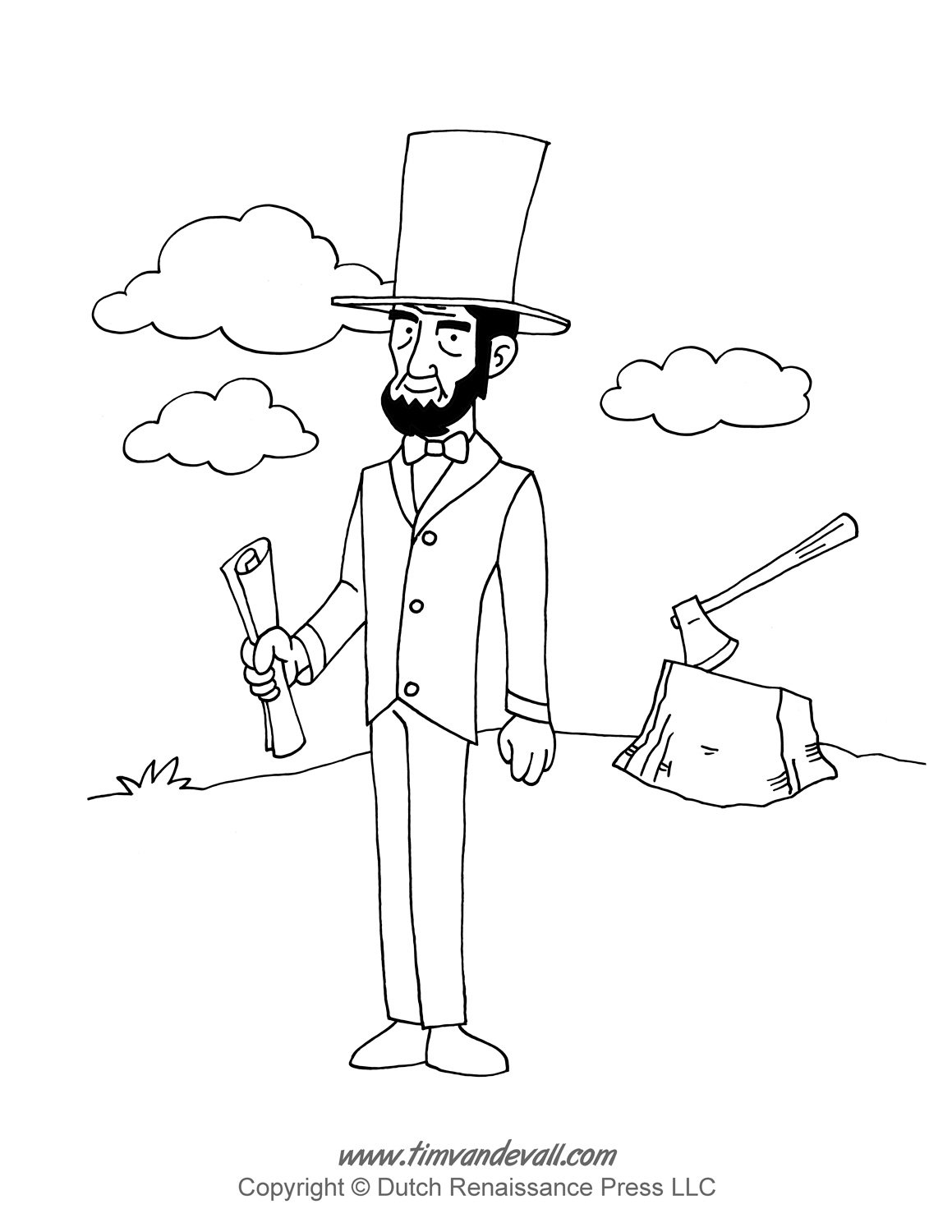 Lincoln Coloring Page Throughout Abraham Pages
