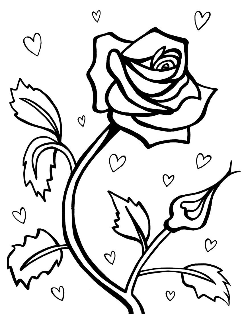 Love Symbol Roses Coloring Pages 30591,