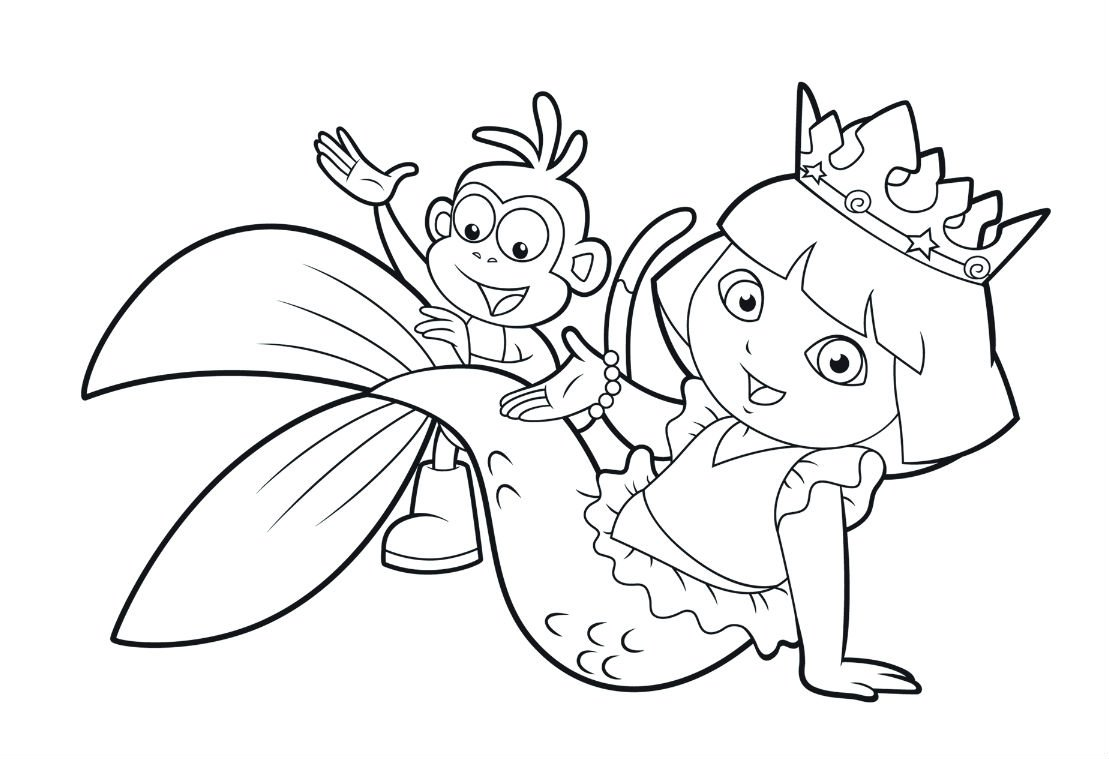 Lovely Dora Coloring Pages 35 On Coloring Pages For Adults With