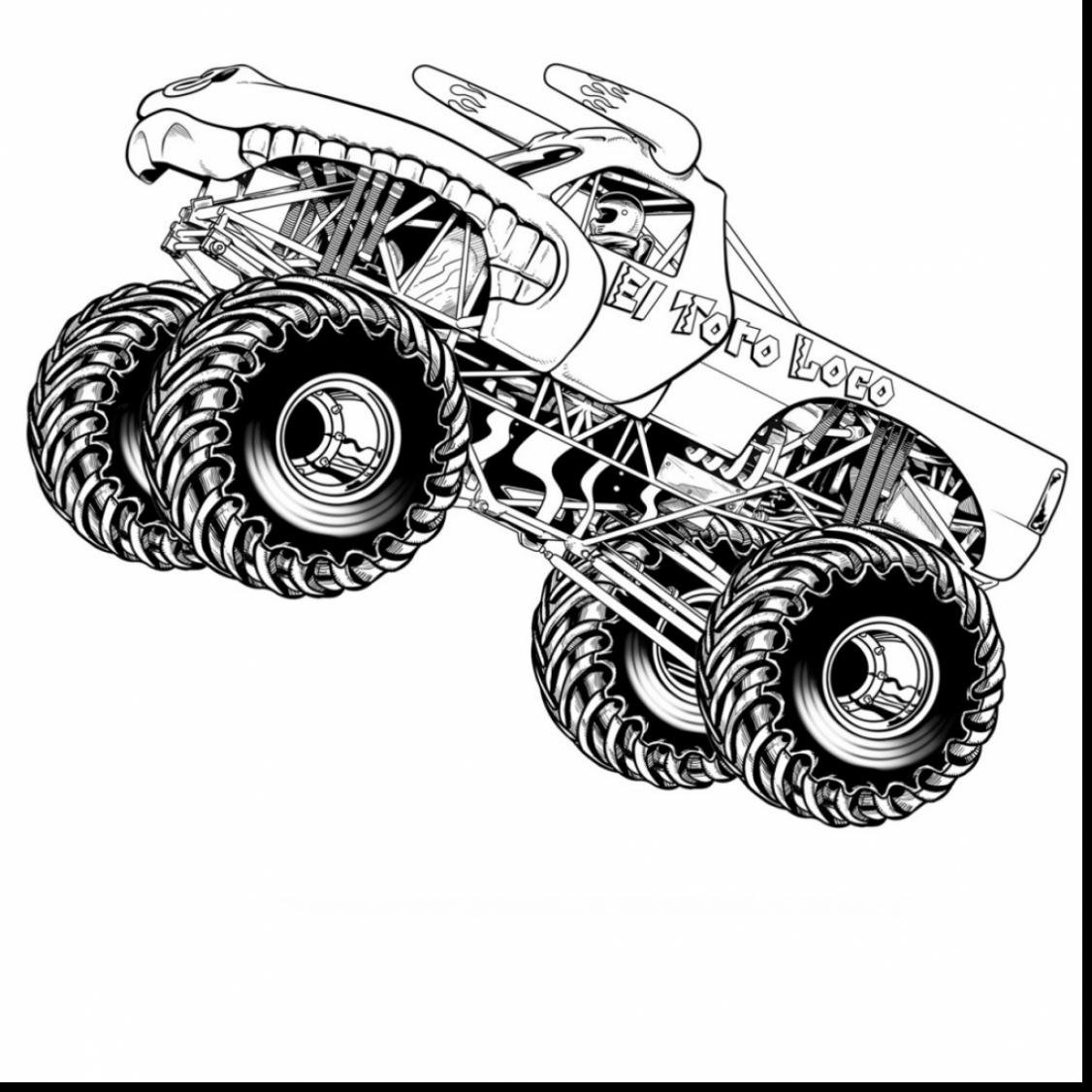 Marvelous Hot Wheels Monster Truck Coloring Pages With Hot Wheels