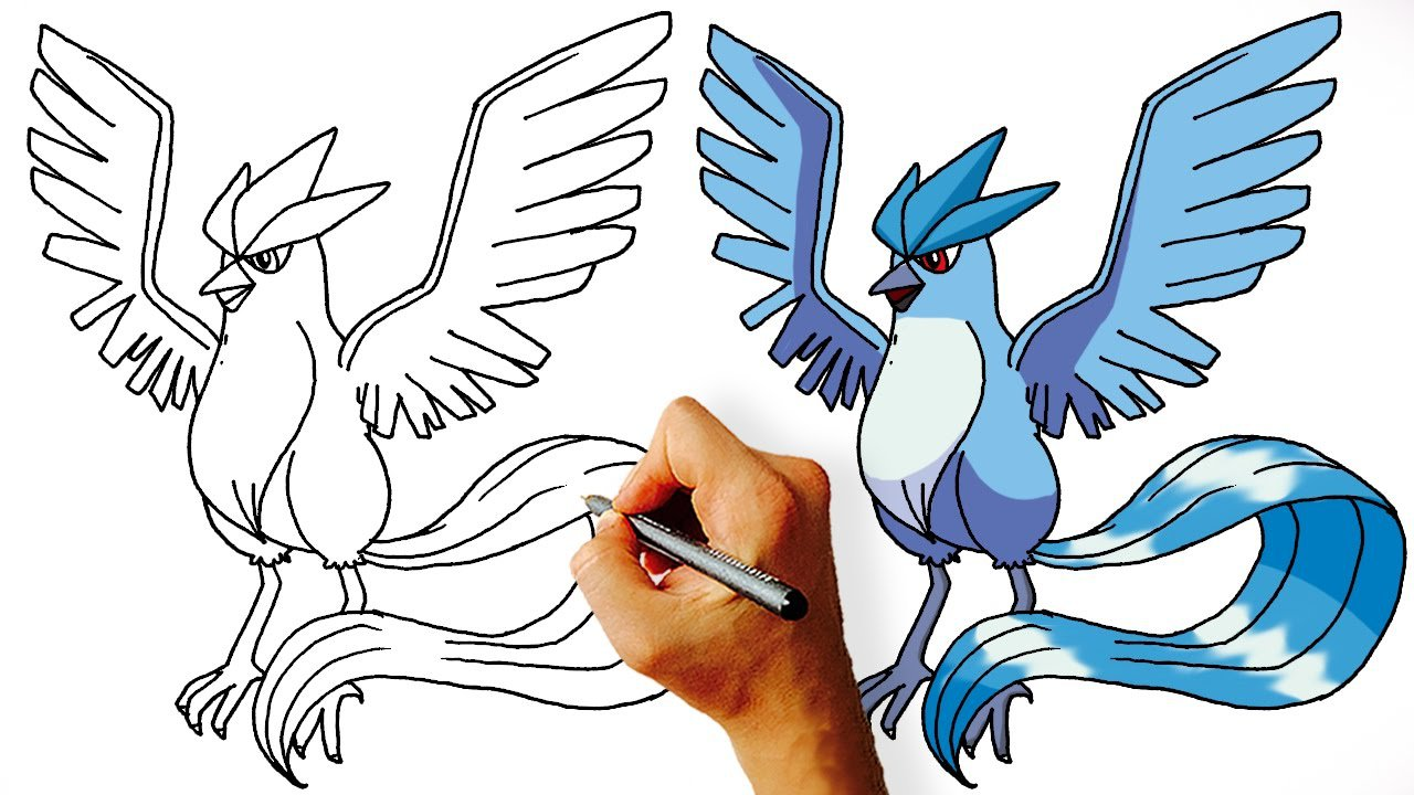 How To Draw Articuno Step By Step ( Legendary Pokemon)
