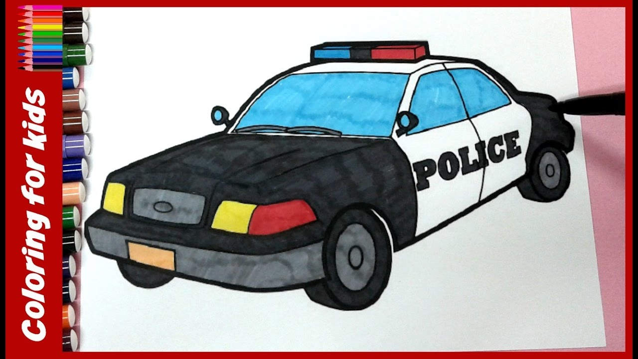 Colouring Pages For Children , How To Color Police Car Coloring