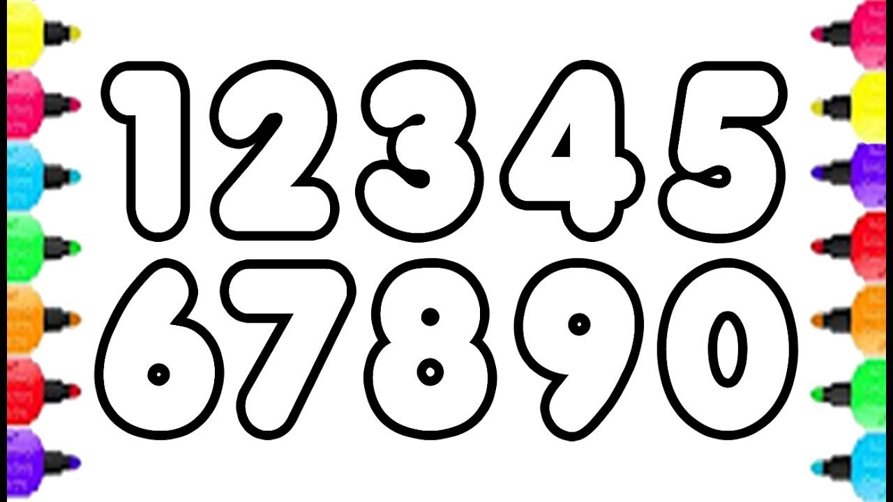 123 Numbers Coloring Pages How To Draw Numbers 0 To 9 And Coloring