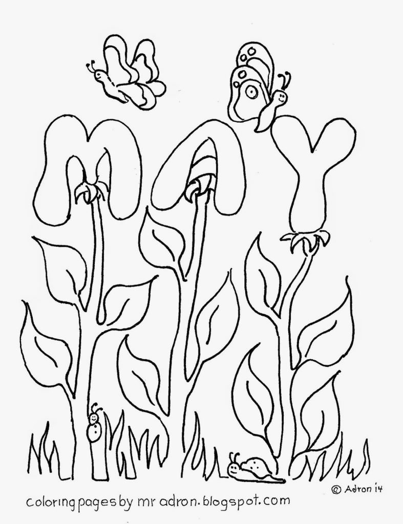 May Coloring Pages Throughout For