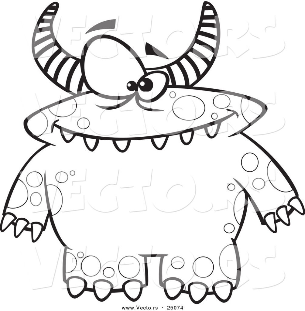 Monster Coloring Page   Best Coloring Pages