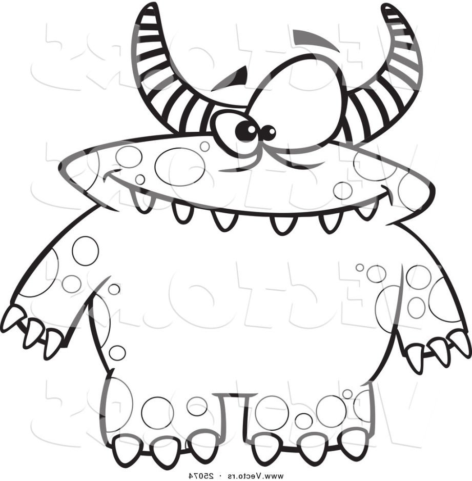 Monster Coloring Pages Kids With Page