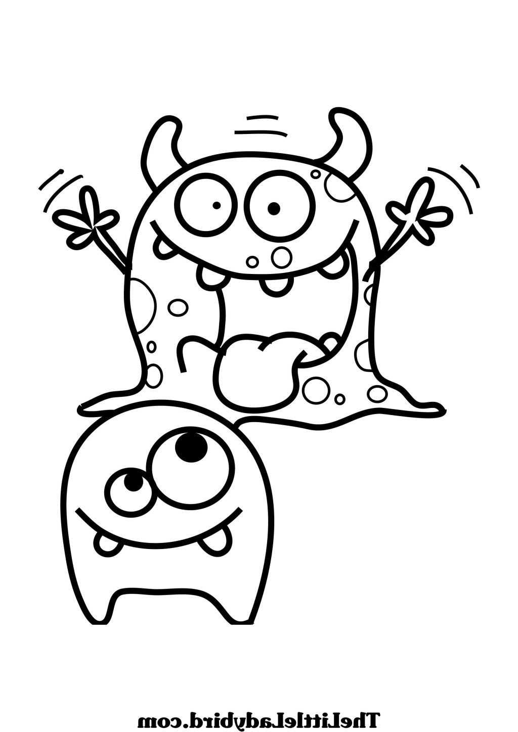 Monster Coloring Sheet » Coloring Pages Kids