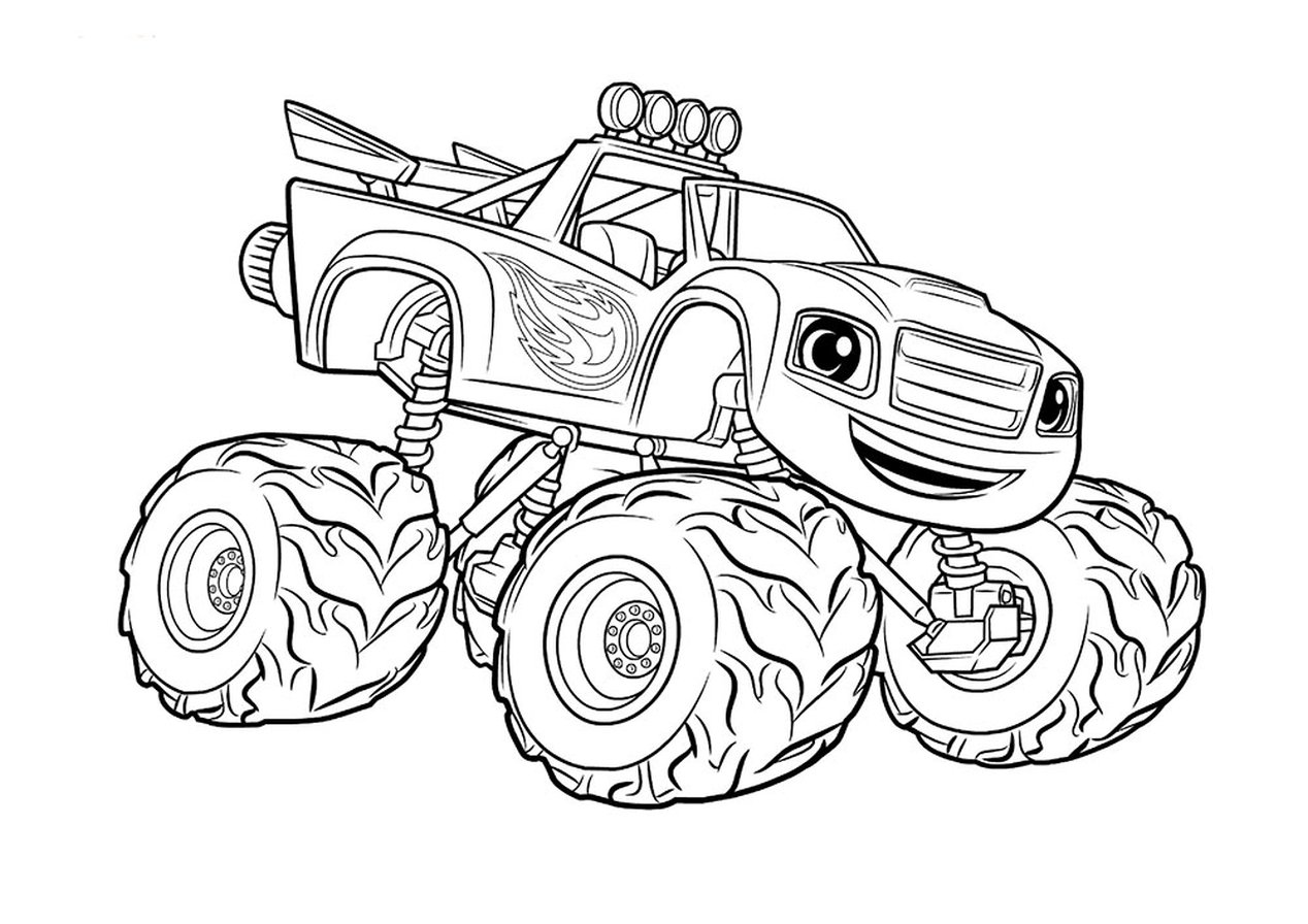 Get This Monster Truck Coloring Page Free Printable For Kids