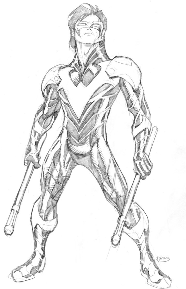 Nightwing Coloring Pages