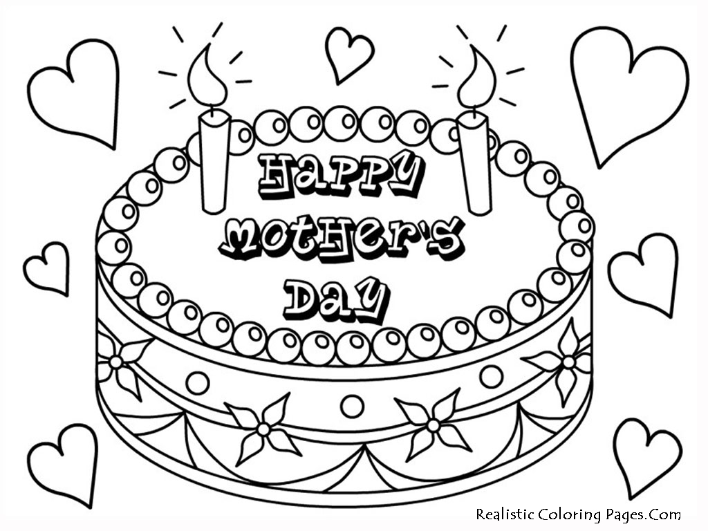 Mothers Day Printable Coloring Pages Inside Mother Color