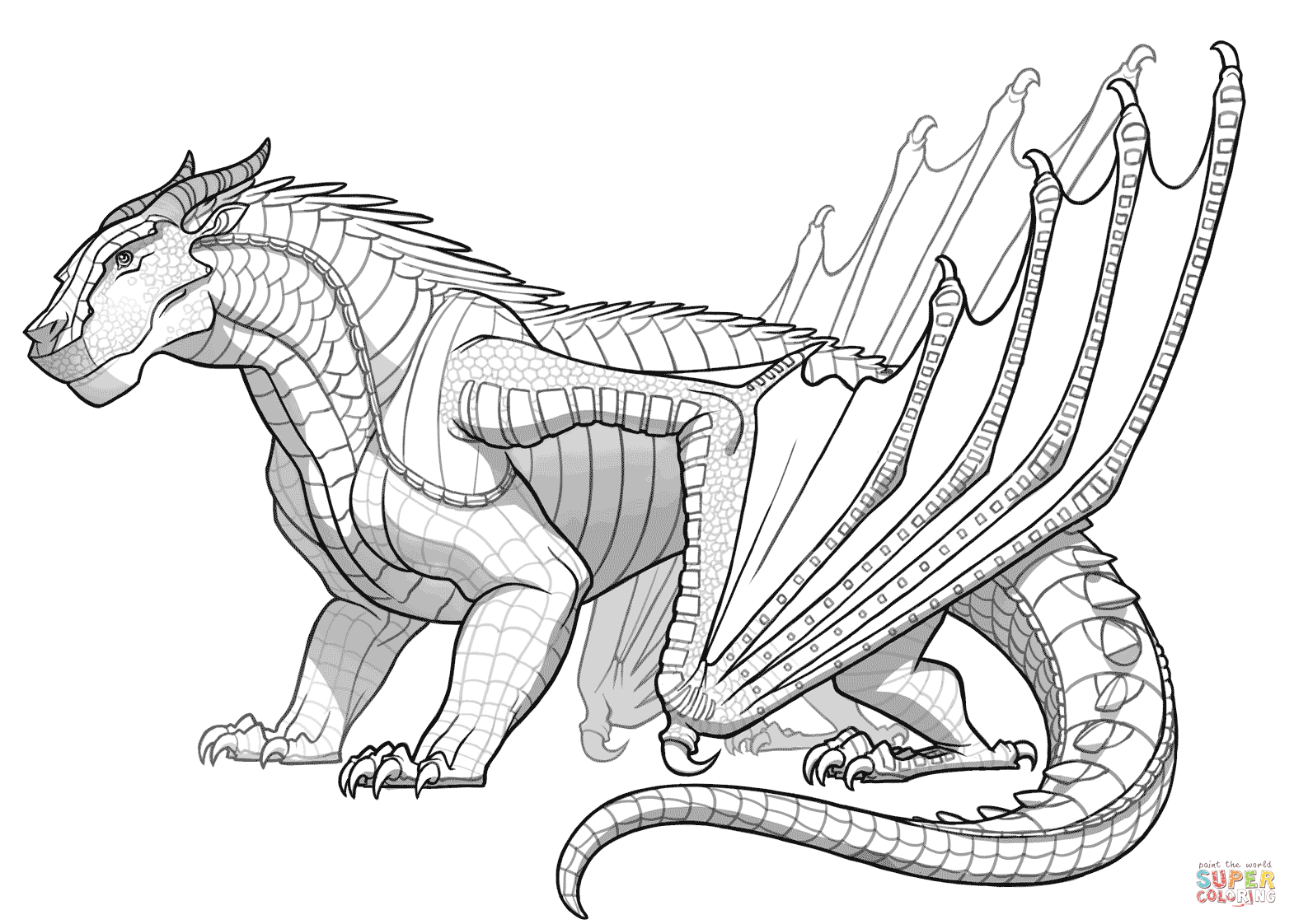 Mudwing Dragon From Wings Of Fire Coloring Page