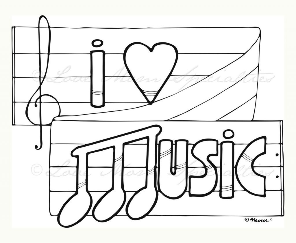 Music Coloring Pages For Adults Archives And Music Coloring Pages