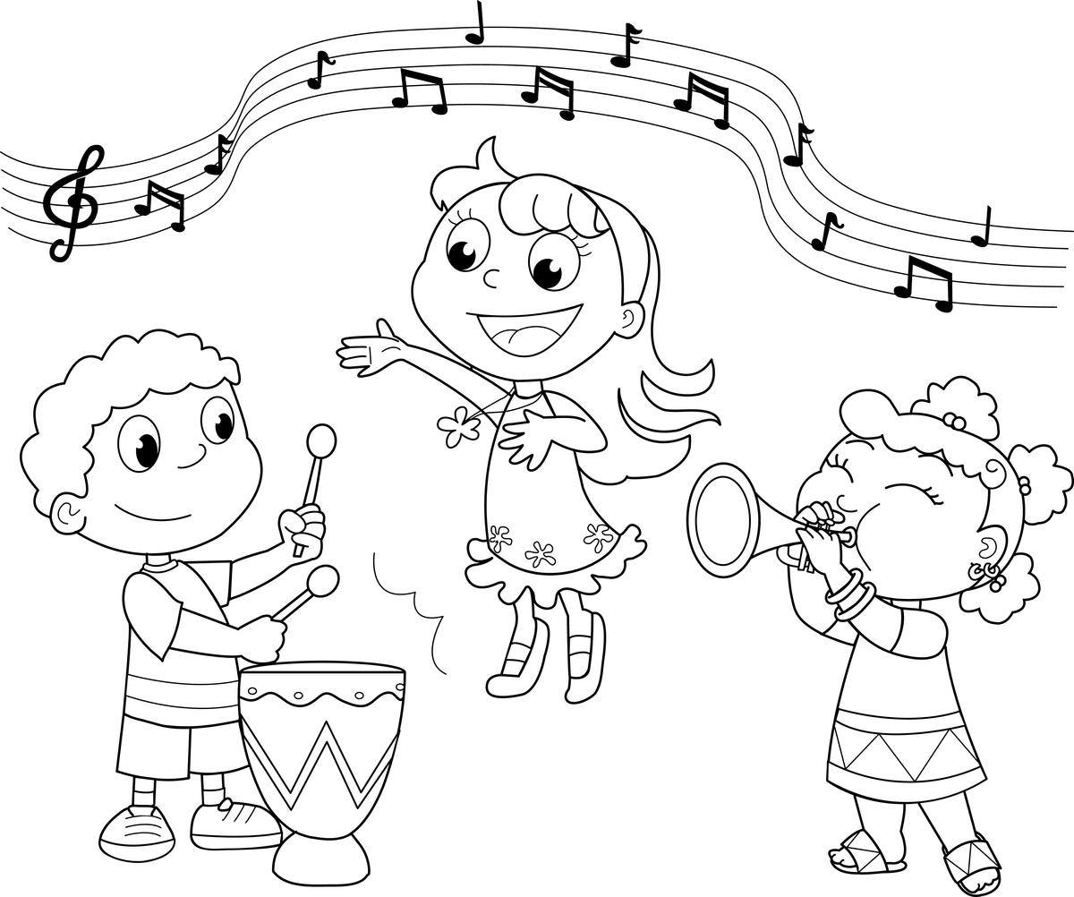 Music Coloring Pages For Page