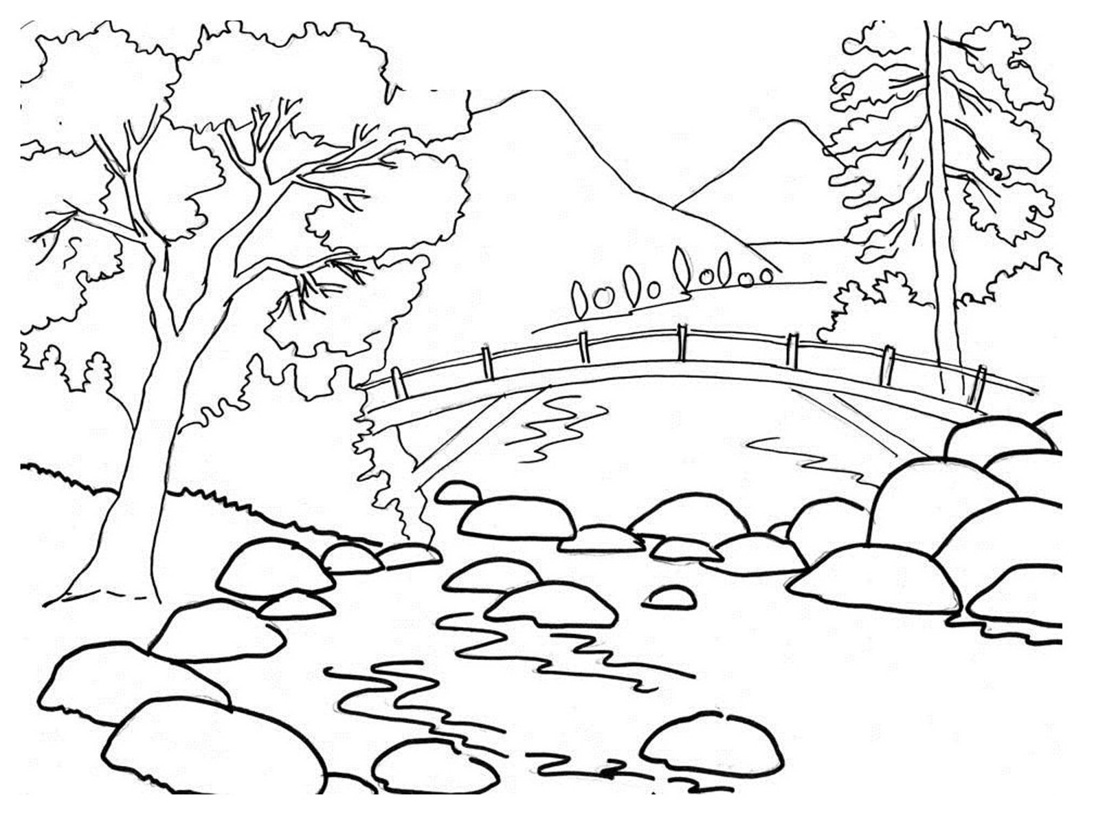 Nature Coloring Pages For Preschoolers Archives With Nature