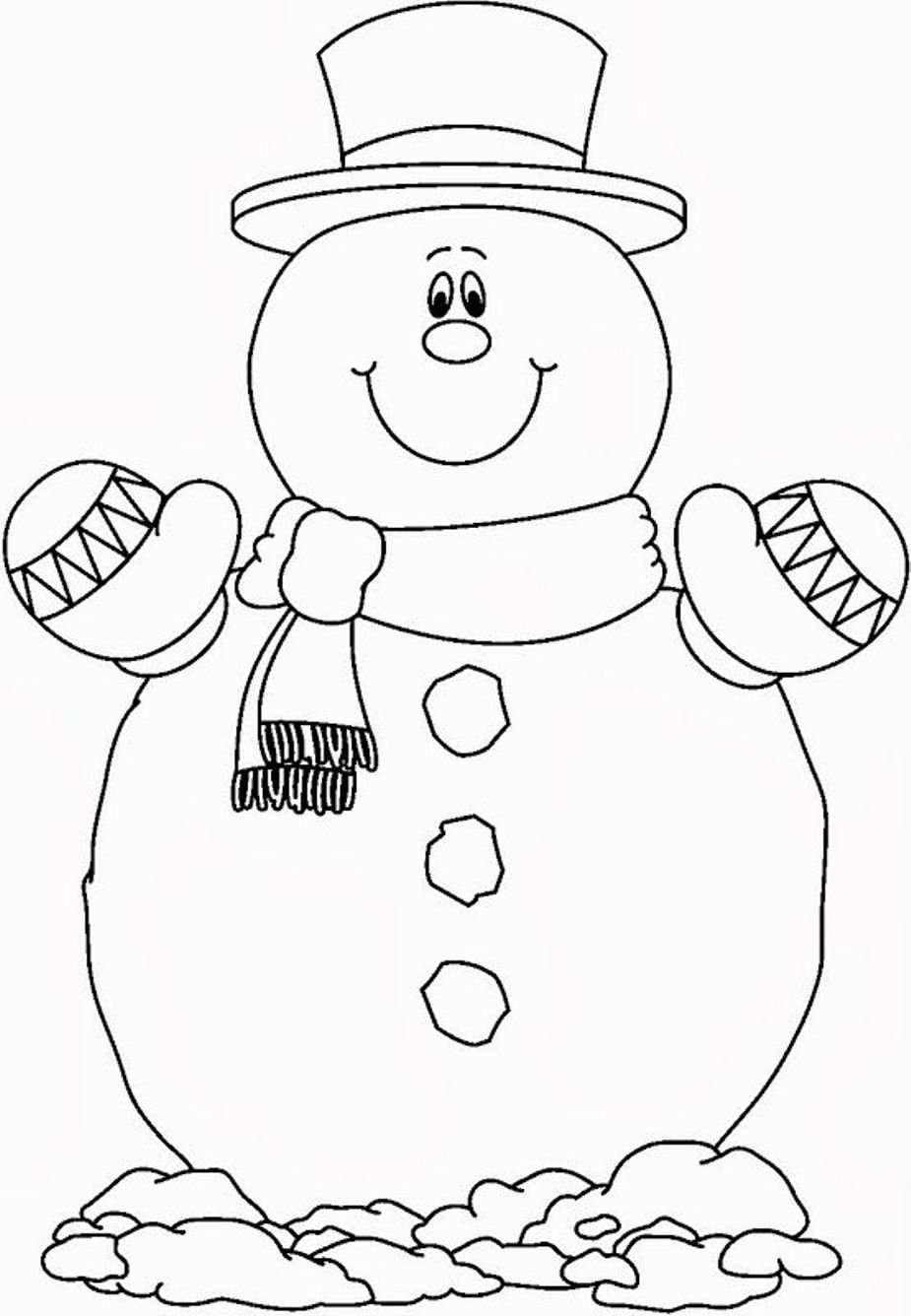Neoteric Snowman Coloring Page