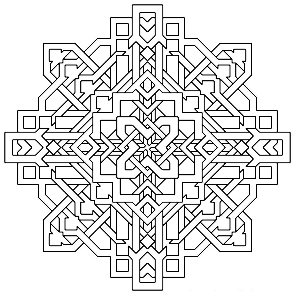 New Printable Geometric Coloring Pages 76 With Additional Coloring