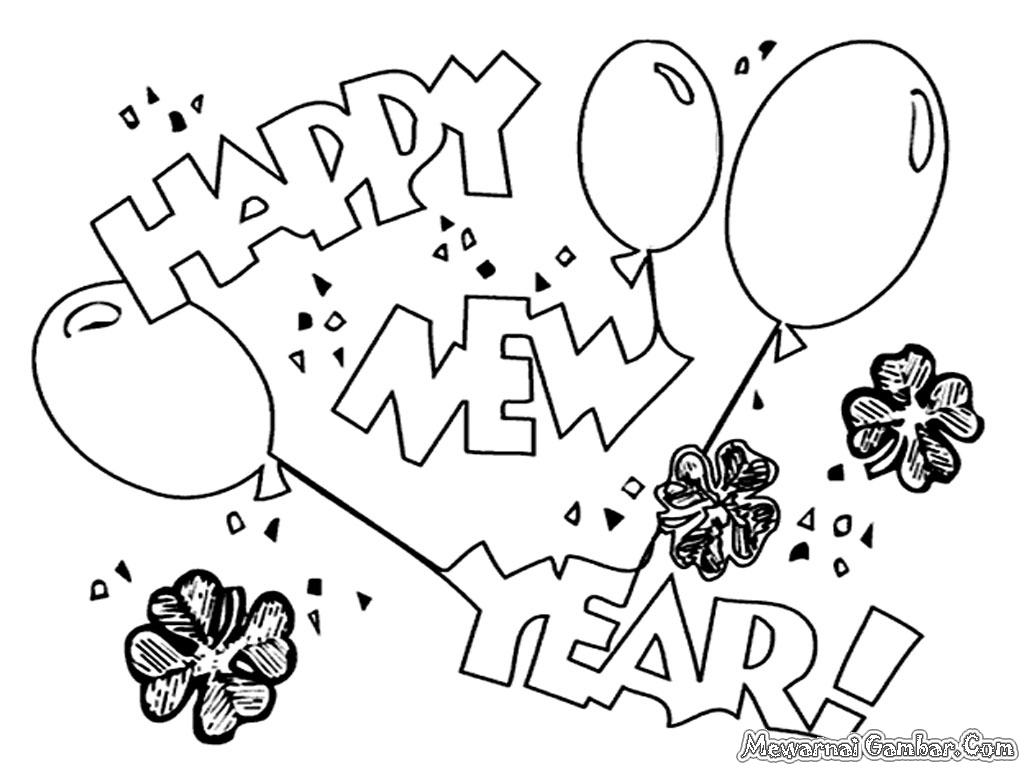 New Years Eve Coloring Pages With Page