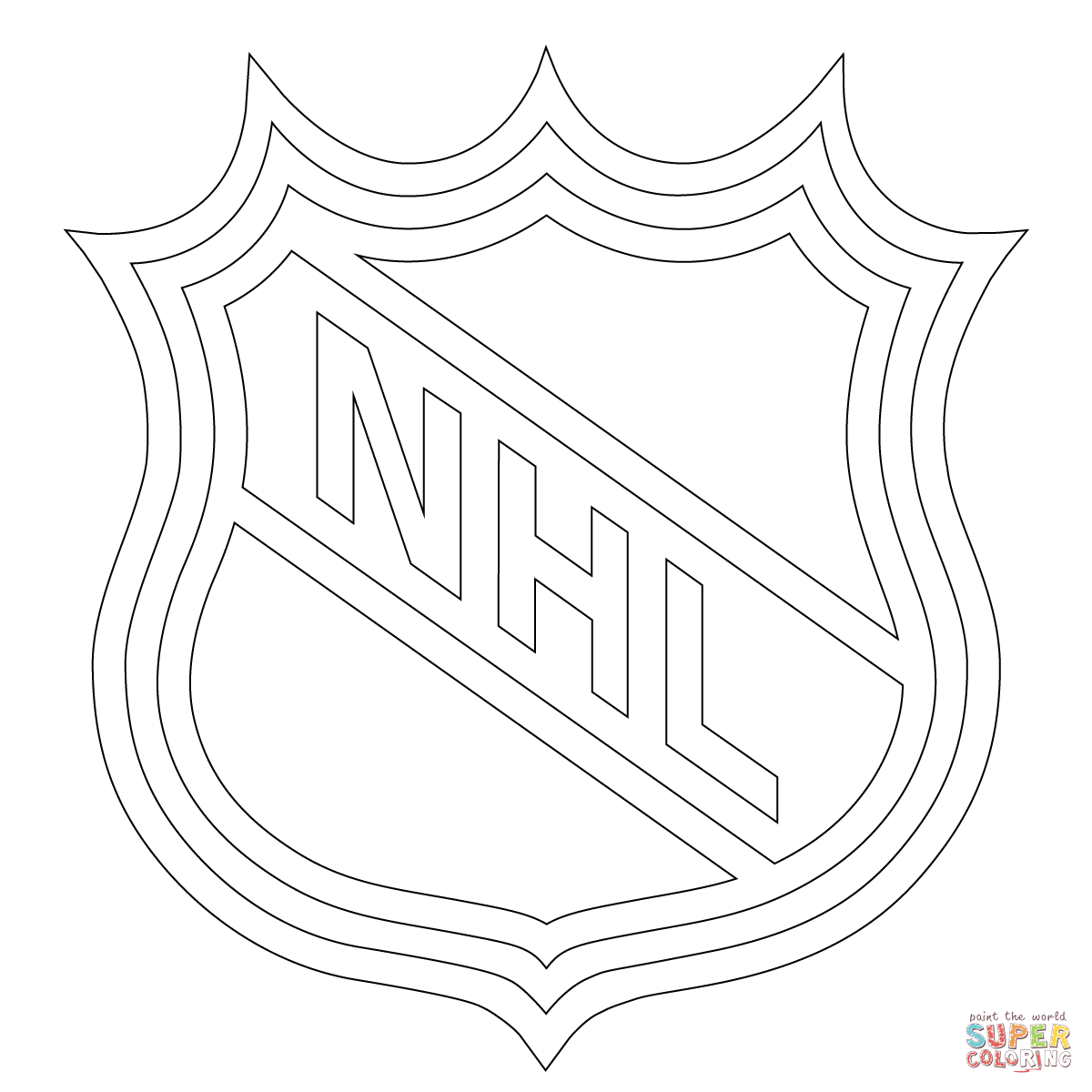 Nhl Logo Coloring Page Throughout Hockey Coloring Pages