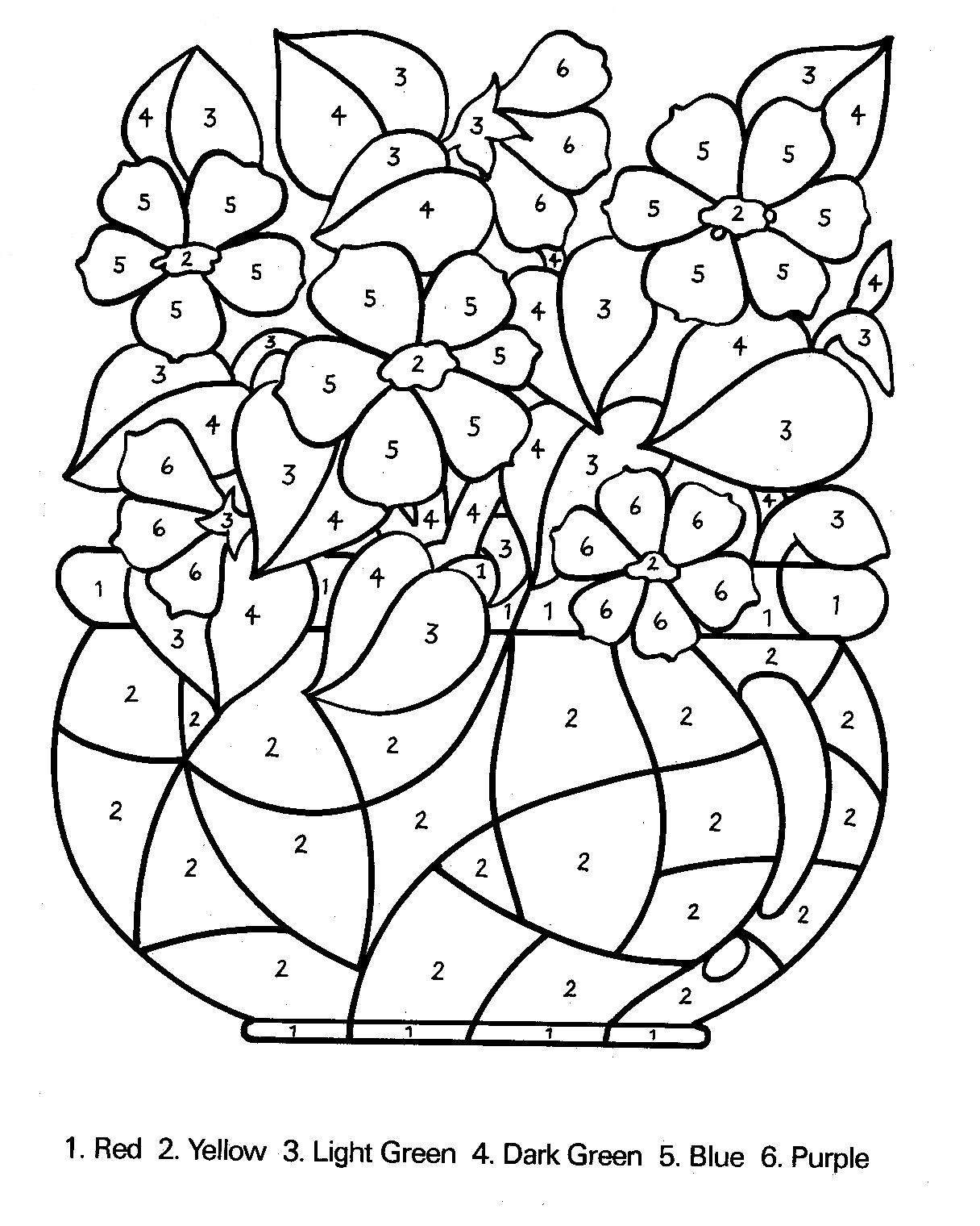 Number Flowers Coloring Sheets Throughout Spring Coloring Pages