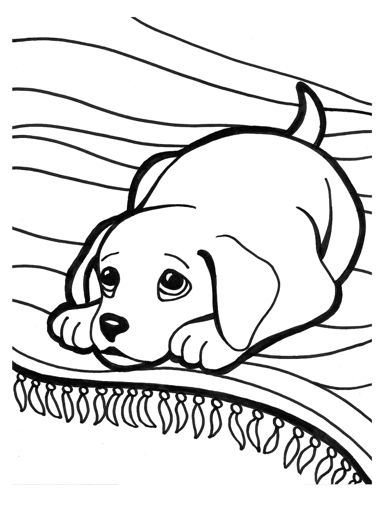 Online Baby Puppy Coloring Pages 18 For Your Images With Baby