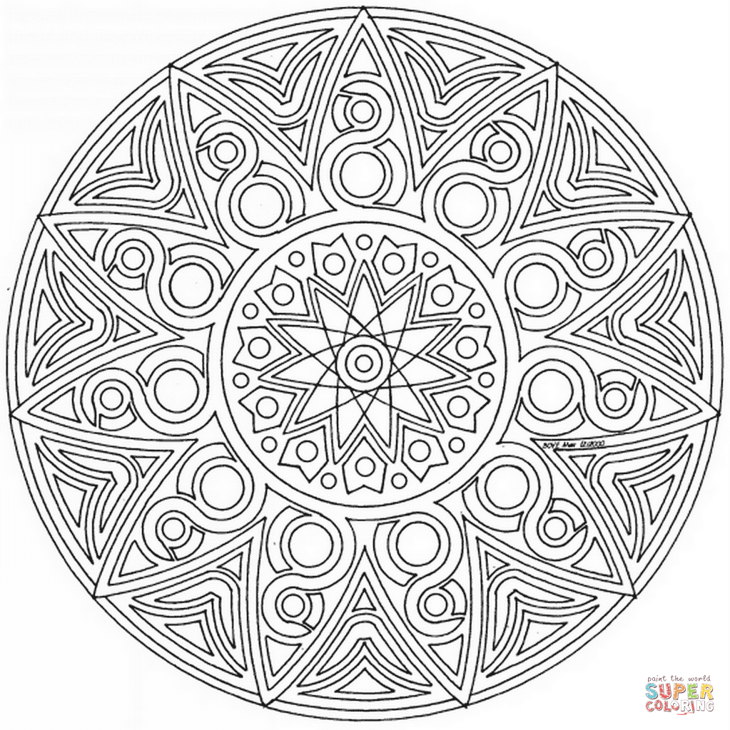 Online Coloring Mandalas Contemporary Art Websites Mandala
