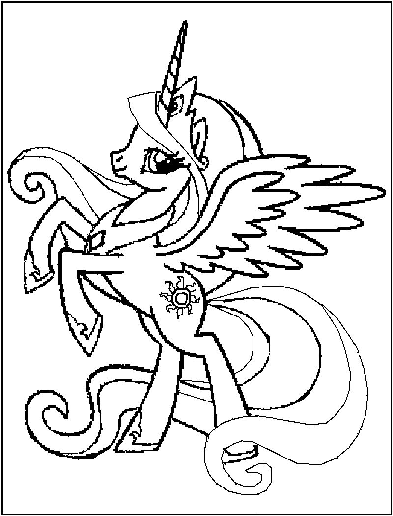 Online For Kid Free Printable My Little Pony Coloring Pages 44
