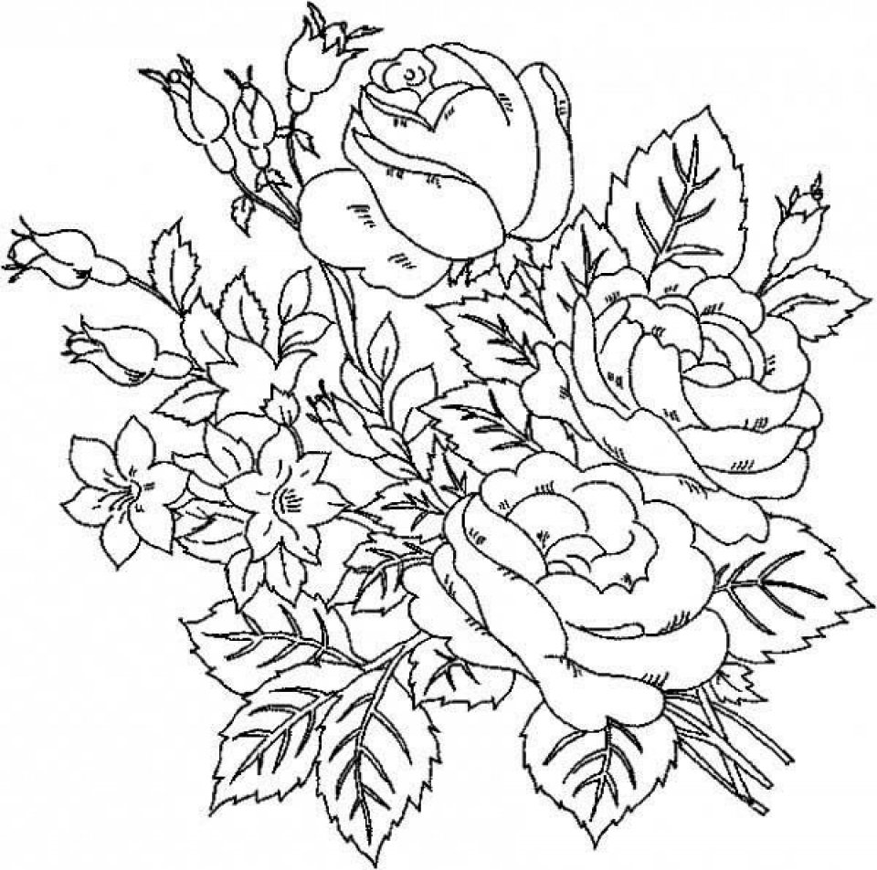 Get This Online Roses Coloring Pages For Adults 17433 !