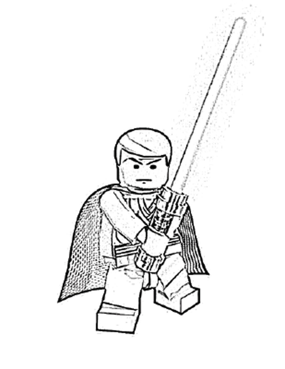 Orgprint Download Lego Star Wars Luke In Skywalker Coloring Page
