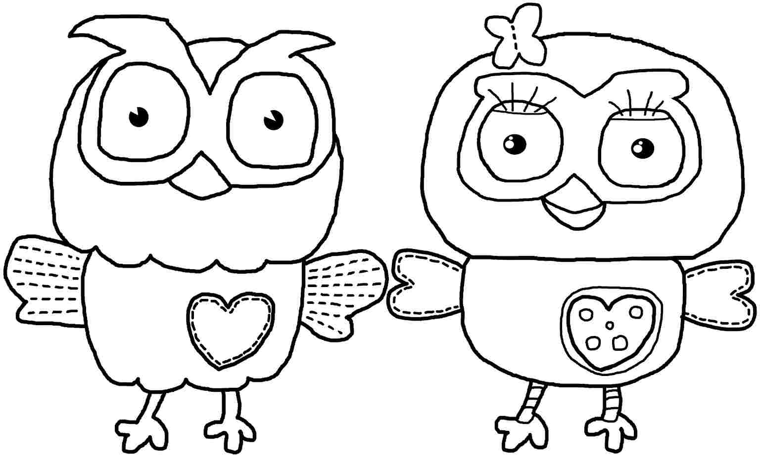 Owl Coloring Pages For Girls Free