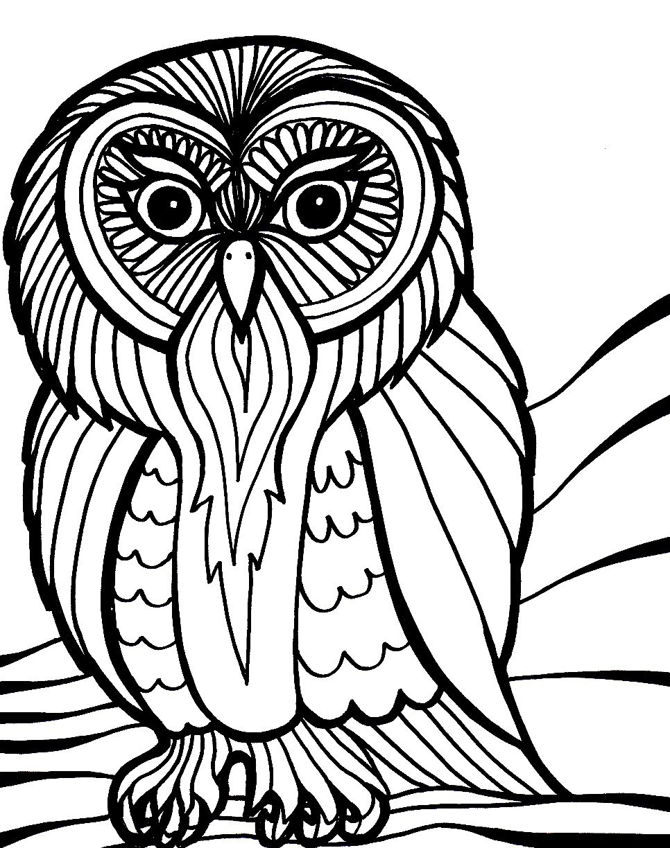 Owl Scary Halloween Coloring Pages 30854,
