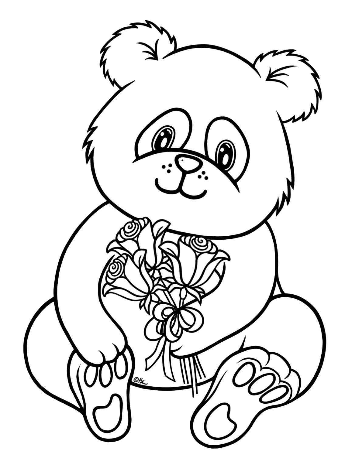Panda Bear Throughout Bear Coloring Pages Printable