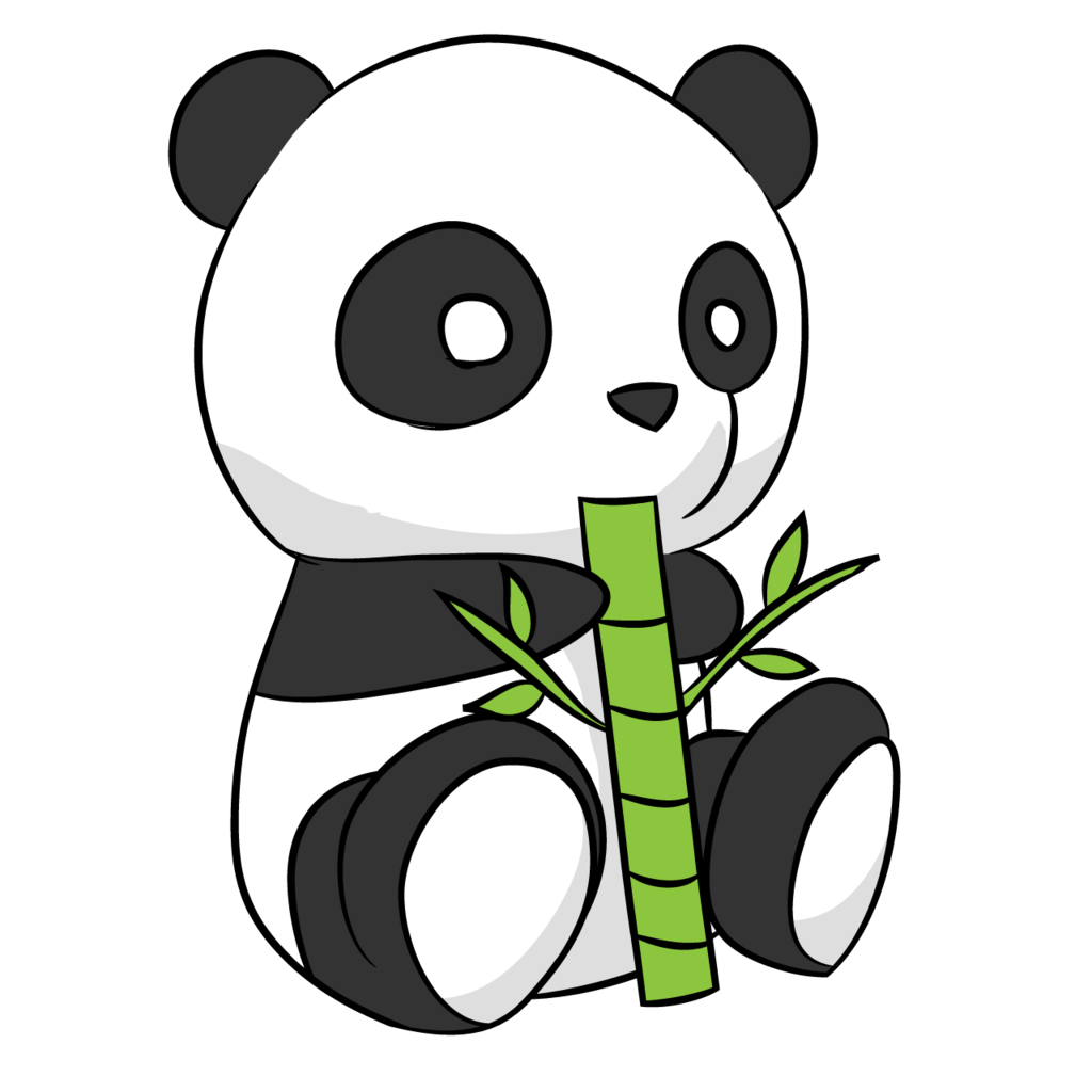 Cute Panda Drawing By Arycarys On Clipart Library