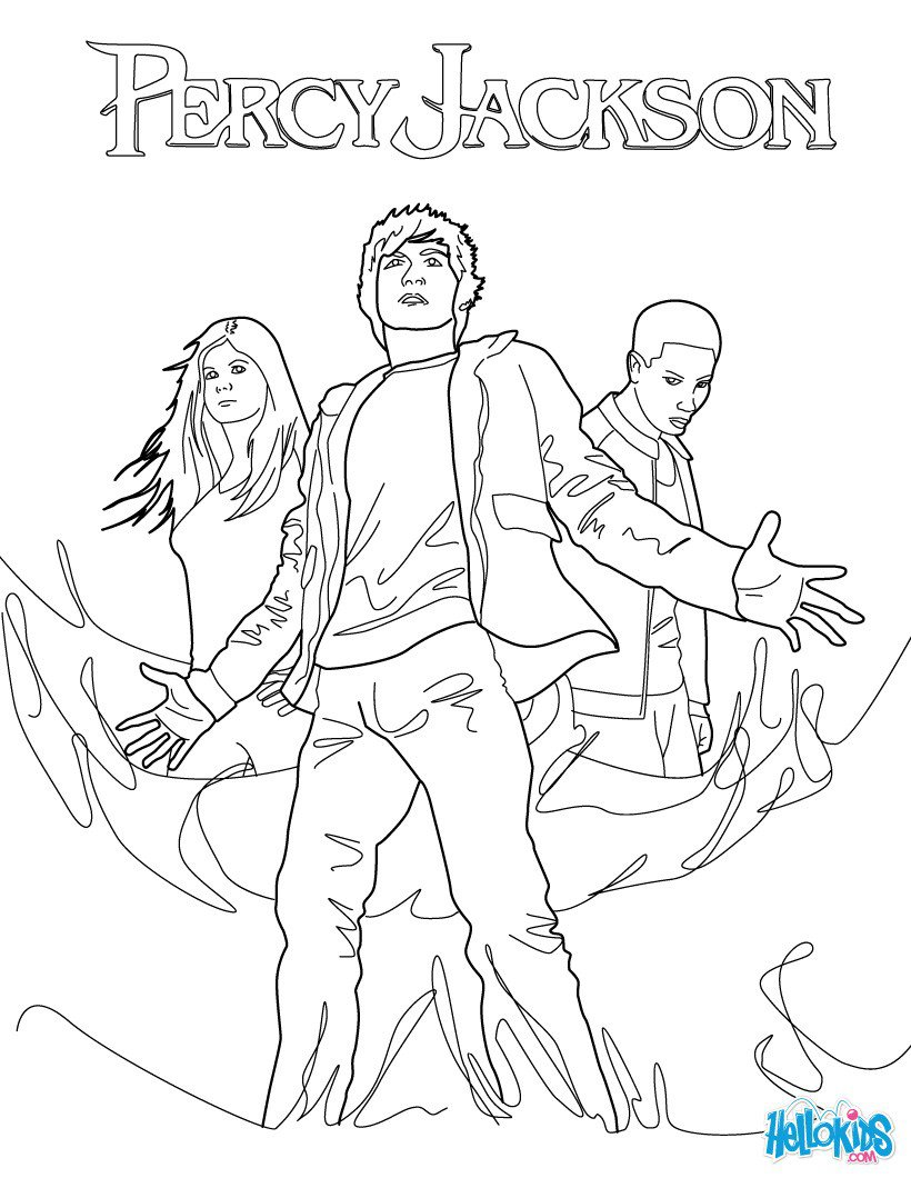 Percy, Annabeth Chase And Grover Underwood Coloring Pages