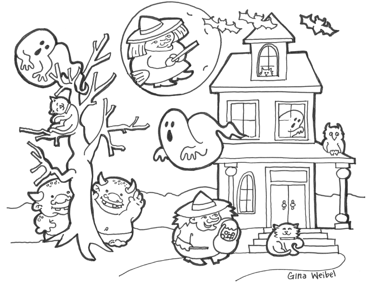 Let's Play Music With Gina Weibel  Halloween Coloring Fun  Witches