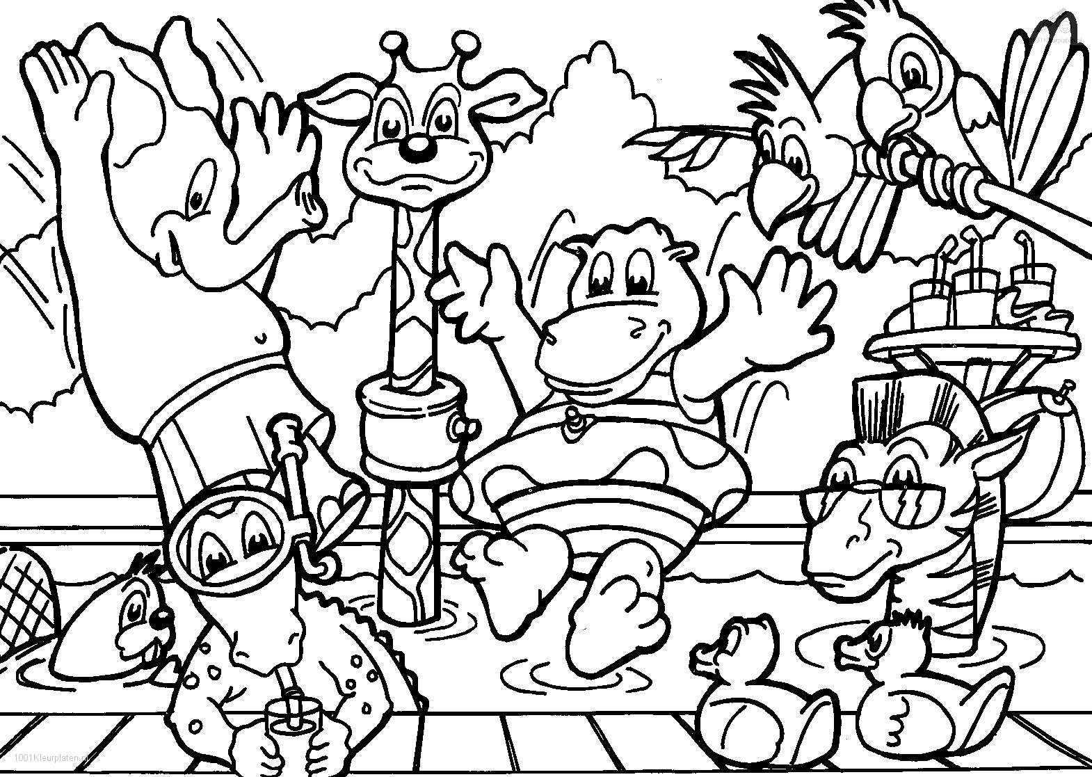 Picture Animals Coloring Sheets 16 With Additional Drawing With
