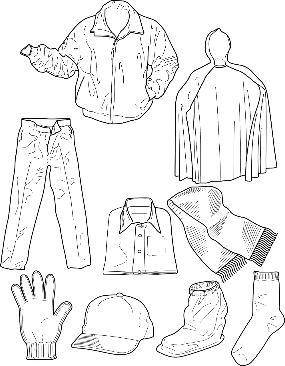 Picture Clothes Coloring Pages 49 With Additional Free Online With