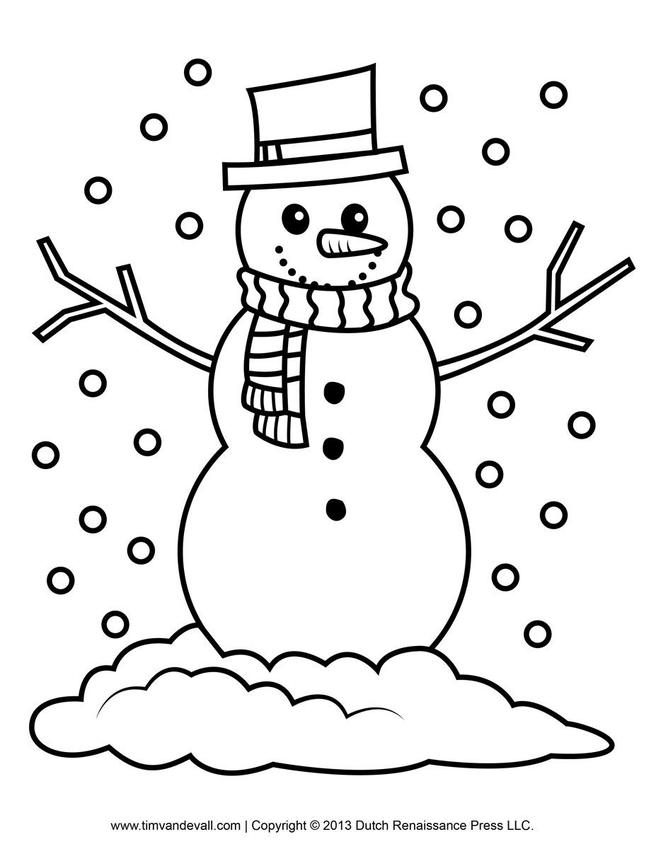 Picture Snowman Coloring Page 11 On Coloring Site With Snowman