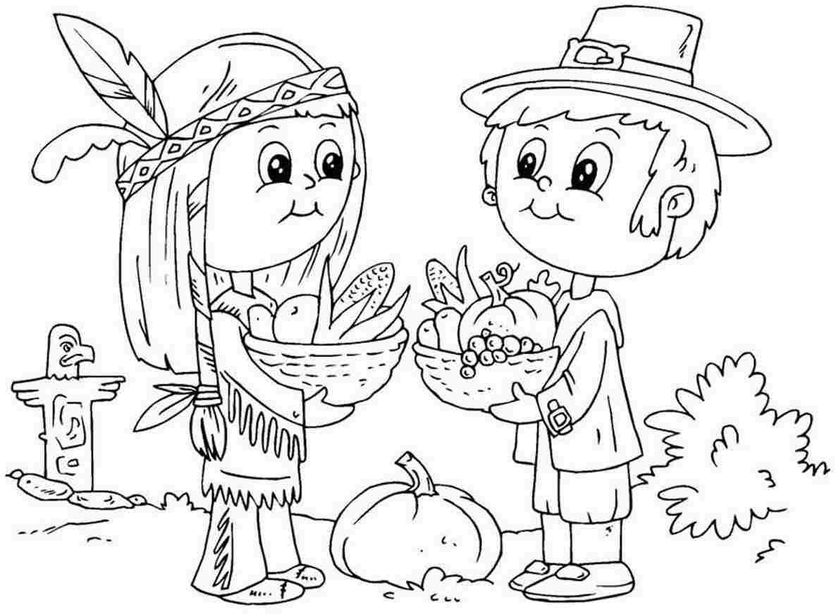 Picture Thanksgiving Coloring Pages 98 About Remodel Download