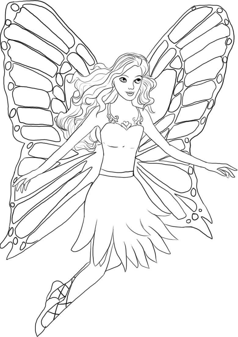 Pictures Barbie Coloring Pages Printables 81 About Remodel