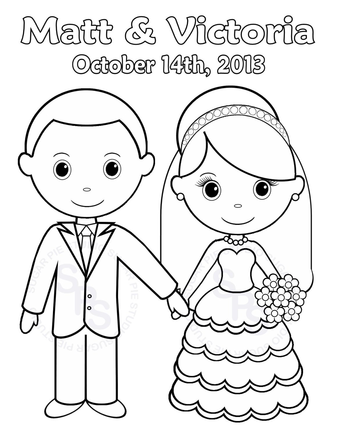 Pictures Wedding Coloring Pages Free 22 For Your Images With