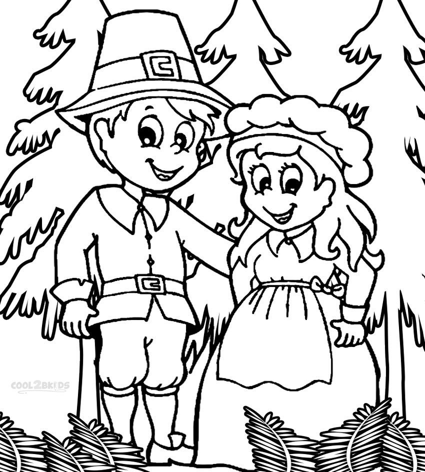 Free Printable Pilgrim Coloring Pages For Kids