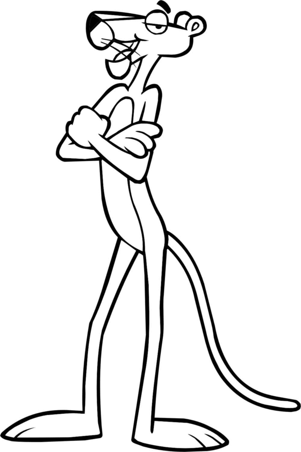 Pink Panther Coloring Pages With