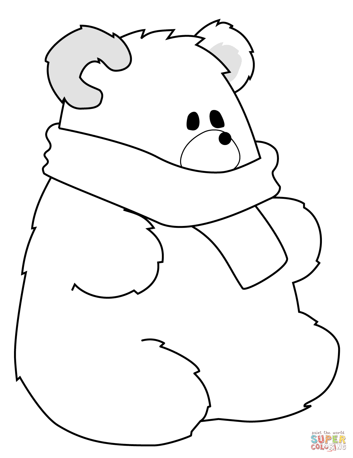 Polar Bears Coloring Pages